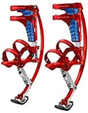 Skyrunner Kinderen/Jeugd Kangoeroe Schoenen Jumping Stilts Fitness Oefening (Rood, Laadbereik-40-60kg)