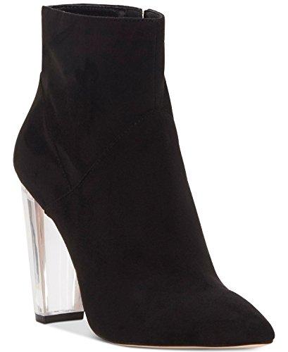 Boots Black Womens Jessica Suede Calf Tarek Simpson Toe Mid Closed Fashion 8qzfqxw