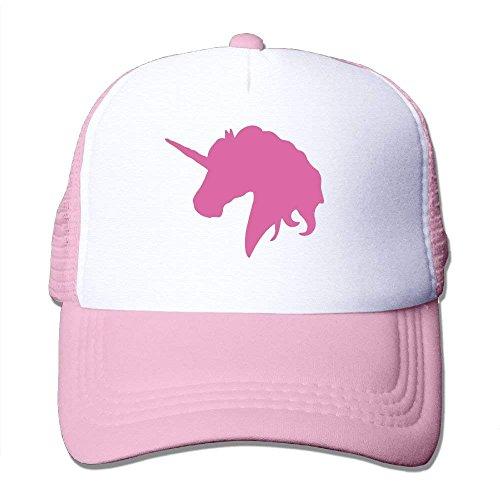 Kids Summer Pink Trucker Hat béisbol Unicorn Adjustable Mesh Unisex Polo NDJHEH Pink Horse Strap Cap Hat with Snapback Mens Gorras HEwxzqAP