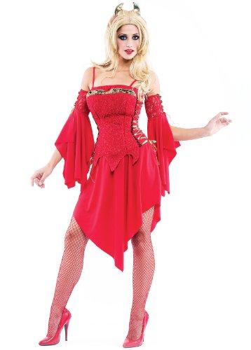 Paper Magic Women's Hot Devil Costume-2, Red, Medium