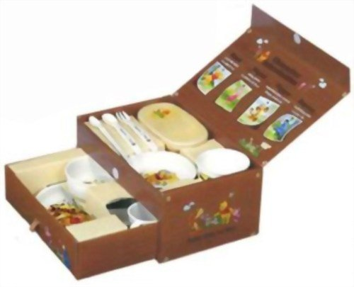 Combi Winnie the Pooh Baby Food Dish set Feeding dish box set by Combi