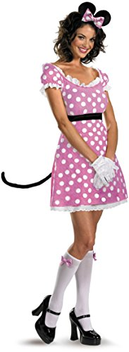 [Disguise Disney Mickey Mouse Clubhouse Sassy Minnie Mouse Costume, Pink/White/Black, Large/12-14] (Mickey Mouse Halloween Costumes For Men)