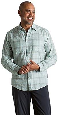ExOfficio Men's BugsAway Poros Plaid Lightweight Long-Sleeve Shirt