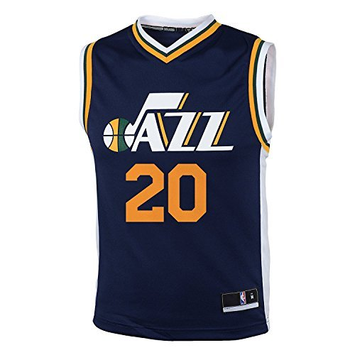 Utah Jersey (Gordon Hayward Utah Jazz #20 Navy Blue Youth Road Replica Jersey (Small 8))