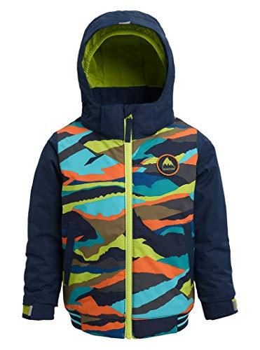 Burton Toddler Boys' Gameday Bomber Jacket, Summit Stripe/Dress Blue, 3T