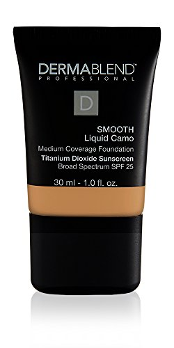 Dermablend Smooth Liquid Camo Medium to High Coverage Foundation Makeup with SPF 25, 40W Sienna, 1 fl. oz.