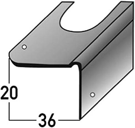 Soportes de reparación para la renovación de la escalera , para escaleras de hormigón, acero galvanizado, de 20 mm de la nariz , incl. Accesorios de montaje: Amazon.es: Hogar
