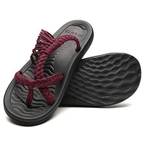 MEGNYA Women's flip Flops Sandals Arch Support Comfortable Walking Summer Water Beach Slipper 19ZDME04-W64-10