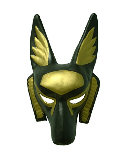 Anubis Adult Costumes (Child's Black And Gold Egyptian Anubis Party Festival Tie Mask Costume Accessory)