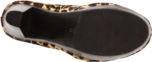 Madison Harding Womens Jullian Platform Pump Leopard Haircalf