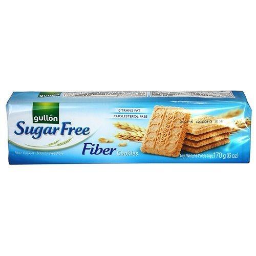 (Gullon SF Fiber Cookies 6 Ounce, 170 Gram, Pack of 5)