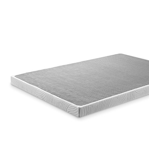 Zinus Victor 4 Inch Low Profile Quick Lock Smart Box Spring / Mattress Foundation / Strong Steel Structure / Easy Assembly, Twin