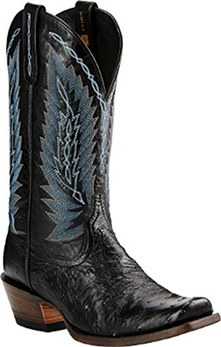 Ariat Men's Stock Show Western Cowboy Boot Black Full Quill Ostrich outlet store sale online uIYd5EiE