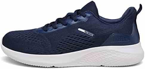 10d38e4d88d6 RoseFang Sport Shoes Jogging Athletic Sneakers mesh Running Shoes  Ultralight Blue 11 M US