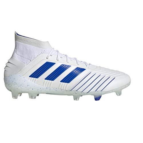 - adidas Men's Predator 19.1 Firm Ground (8.5) White/Blue