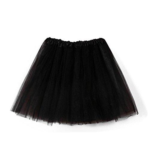 FNKDOR ballet tutu en tulle jupe courte style annes 50 Noir