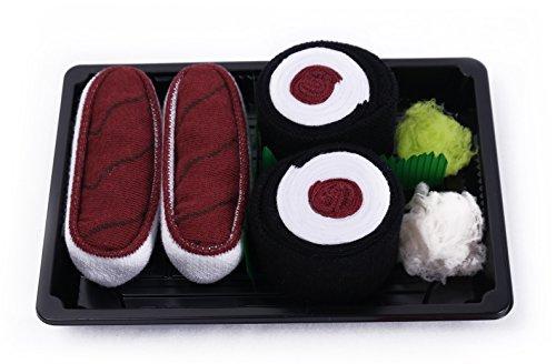 SUSHI SOCKS BOX 2 pairs Tuna Maki Tuna Unisex FUNNY GIFT! Made in Europe size S by Colors of Rainbow