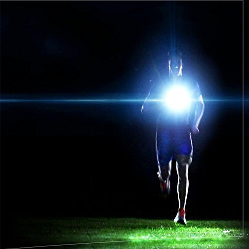 VSSPEED Outdoor LED Chest Light Night Running Warning Safety Lights With Removable Fixing Band USB Charge For Camping Hiking Running Walking