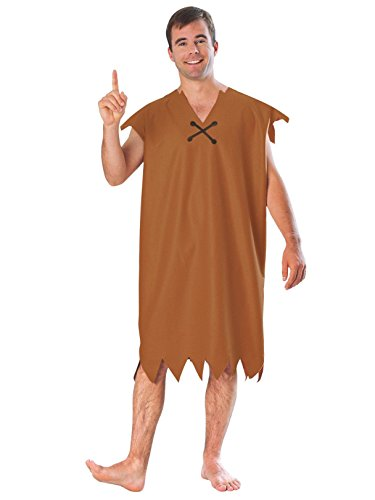 Rubie's Barney Rubble Adult Costume, Brown, Size -