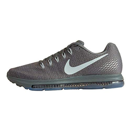 NIKE Men's Zoom All Out Low Running Shoe Size 9.5 Dark Grey Wolf Grey Pure Platinum (Shox Shoe Sneaker)