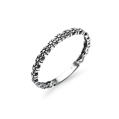 lower Sterling Silver Daisy Band Ring For Women Friendship Promise Size 6 ()