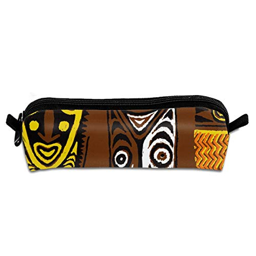 Pencil Case New Guinea Masks 2a_220 Unisex Student Zipper Polyester Pen Box Stationery Bag Lightweight Storage Bags