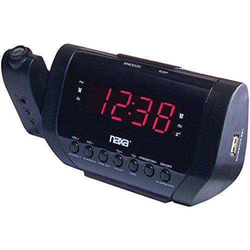 NAXA NRC-167 Projection Alarm Clock with USB Charger consumer electronics