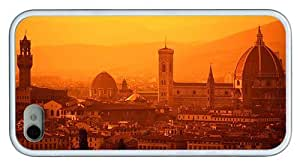 Hipster iPhone 4S cases custom Florence Italy TPU White for Apple iPhone 4/4S