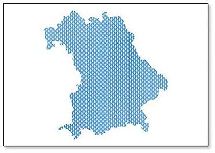 Bayern Karte.Amazon Com Karte Von Bayern In Rechten Maschen Fridge Magnet