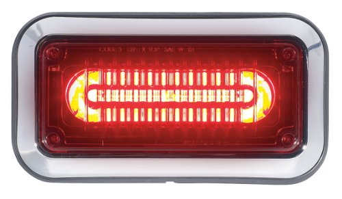 Code 3 - 3712RBZ-75 - Perimeter Light, LED, Red, Surface, Rect, 6In ()
