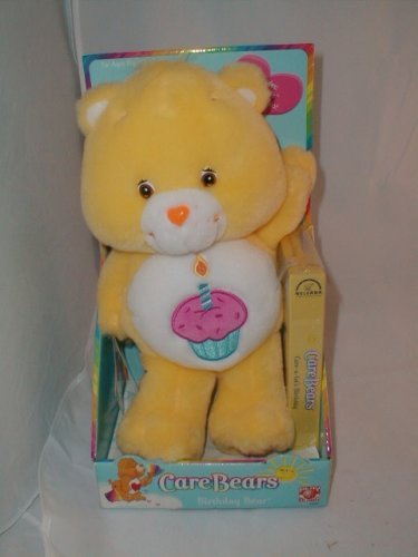 c254d1a74 Amazon.com: Play Along Care Bears Plush Birthday Bear with VHS Video Tape:  Toys & Games