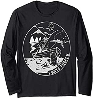 ⭐️⭐️⭐️ Fishing I Hate People  Camping Fishing Lovers Gifts Need Funny Tee Shirt Need Funny Short/Long Sleeve Shirt/Hoodie