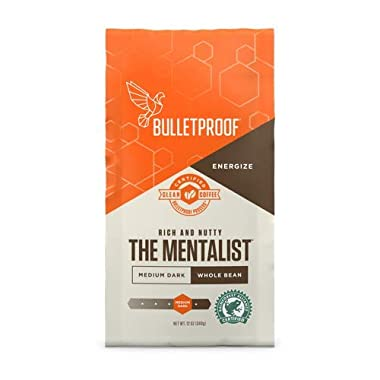 Bulletproof The Mentalist Roast Whole Bean Coffee, Premium Dark Roast Organic Coffee (12 oz)