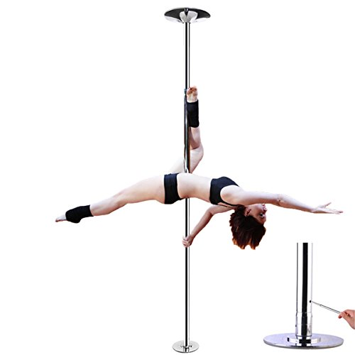 AMPERSAND SHOPS Removable / Portable Dance Fitness Exercise Pole Static / Spinning Option by AMPERSAND SHOPS