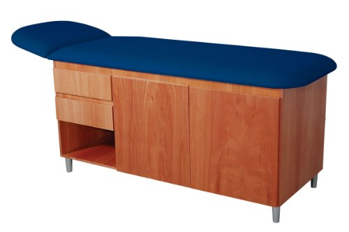 3B Scientific W15139DB Classic Straight Line Table with Drawers, Dark Blue Top (Pack of 1) by 3B Scientific