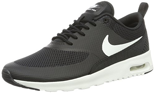 NIKE Women's Air Max Thea Black/Summit White Running Shoe 10 Women US