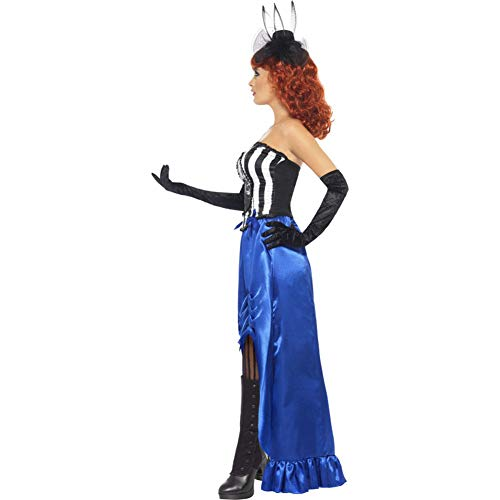 Smiffy's Women's Grotesque Burlesque Pin Up Costume, Corset and Skirt, Halloween, Size 10-12, 38867