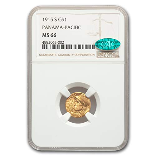 1915 S Gold $1.00 Panama-Pacific MS-66 NGC CAC G$1 MS-66 NGC