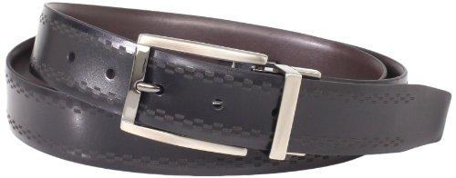 Van Heusen Men's Men's Non Stitch Leather Reversible Belt, black/Brown, 32