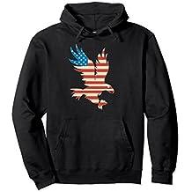 American Flag Bald Eagle Hoodie - USA Sweatshirt