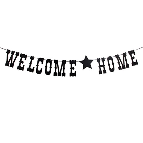 MaiCaiffe Welcome Home Banner Vintage Home Decoration for Family Party Photo Props