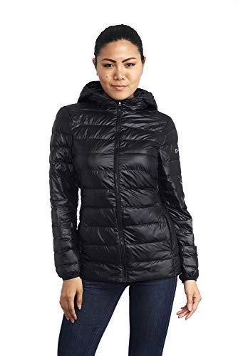 alpine swiss Eva Womens Down Jacket Hooded Puffer Coat Packable Insulation & Light