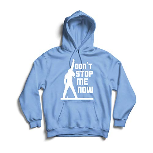 lepni.me Unisex Hoodie Don't Stop me Now! Vintage Rock Band Clothing, Musically Merch (Small Blue Multi Color)