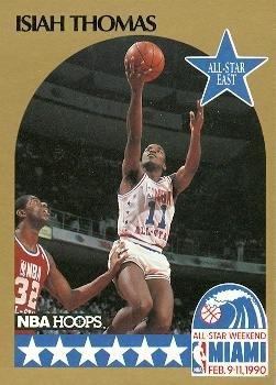 Isiah Thomas Basketball - Isiah Thomas Basketball Card (Detroit Pistons) 1990 Hoops #11 All Star