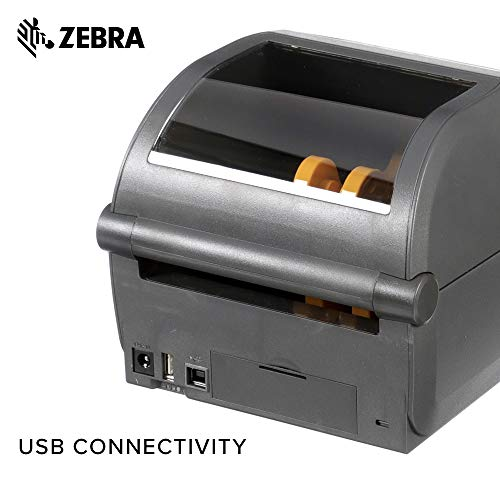 Zebra - ZD420d Direct Thermal Desktop Printer for Labels and Barcodes - Print Width 4 in - 300 dpi - Interface: USB - ZD42043-D01000EZ by Zebra Technologies (Image #5)