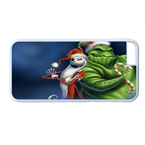 Customized Cute Cartoon Movie The Nightmare Before Christmas jack and sally Wallpaper PC Case Cover for iPhone 6 (Nightmare Before Christmas Jack And Sally Wallpaper)