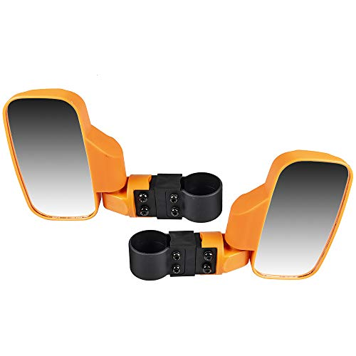 Mule Utility Vehicle - Niche Orange Offroad Break-Away Side View Mirror Set for UTV Side x Side Utility Vehicle w/ 1.75