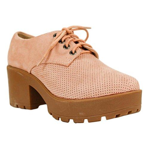 Centímetros Piso Calado con Zapato Medida Cordones de Buonarotti Antelina Rosa 5 del 6 g8PTxw
