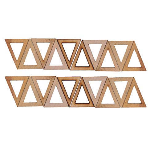 Baosity 20 Pieces 40x25mm Natural Triangle Shapes Wooden Wood Pendant Charms Top Drilled Hole DIY Earring Jewelry Making Findings Craft Supplies