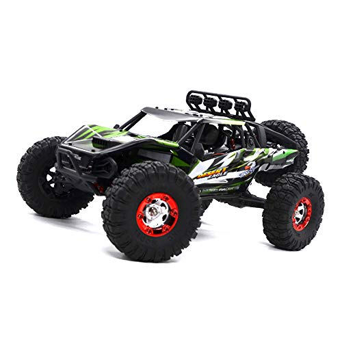 KELIWOW Electric RC Buggy 1/12 4WD RC Car,2.4Ghz Remote Control Off Road Truck 70KM/h Rc Rock Crawler Monster Truck RTR All Terrain Car Brushless Desert 7-Green